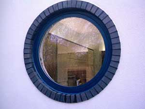 Round window with mastic applied